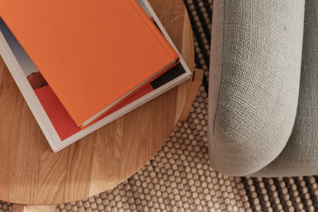 Furniture and rug setup from AptDeco.
