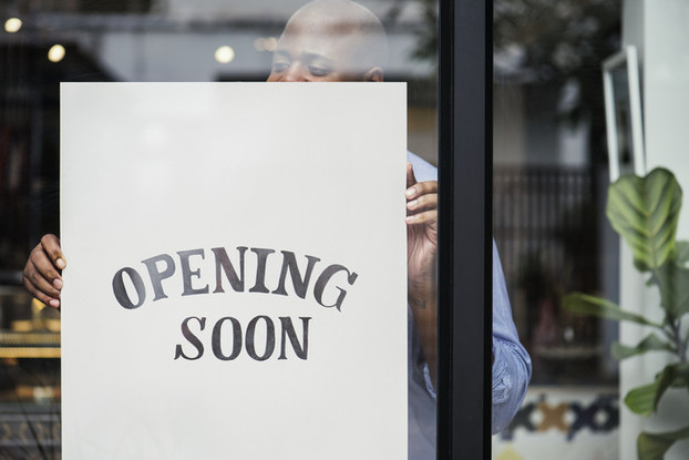opening soon sign