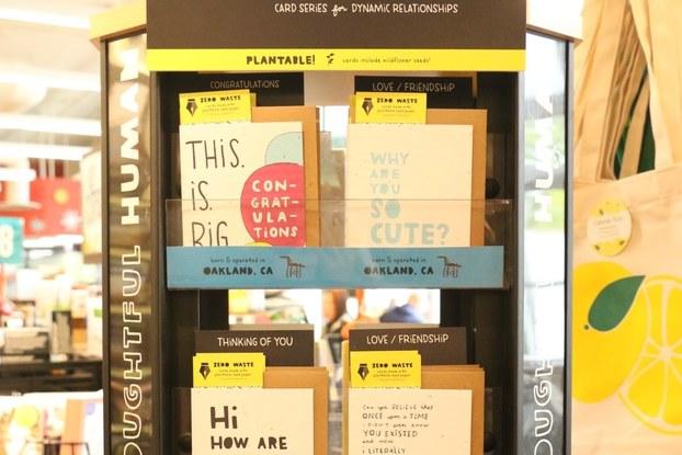 thoughtful human, cards, display