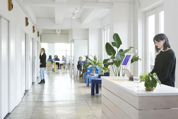 interior of artsy NY office