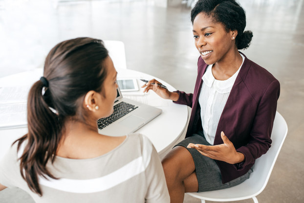 two women having a discussion