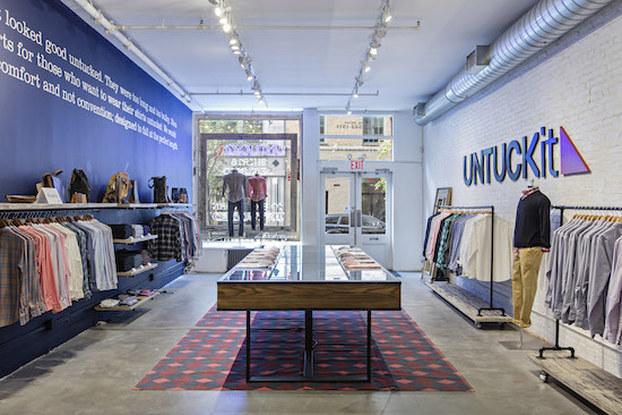 interior of untuckit store