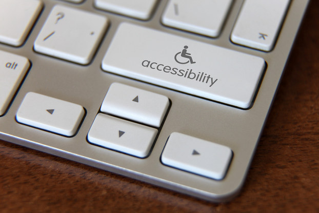 keyboard with handicap accessibility key