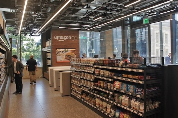 inside of amazon go location