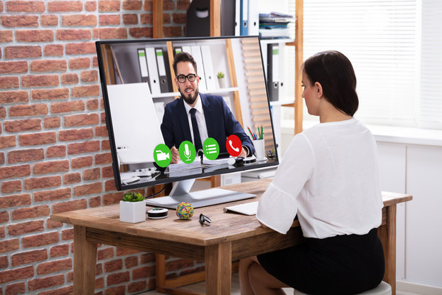 Video conference job interview