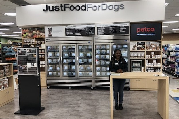 justfoodfordogs location inside petco