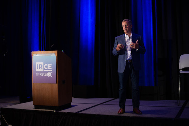 Rob Green speaking at IRCE conference