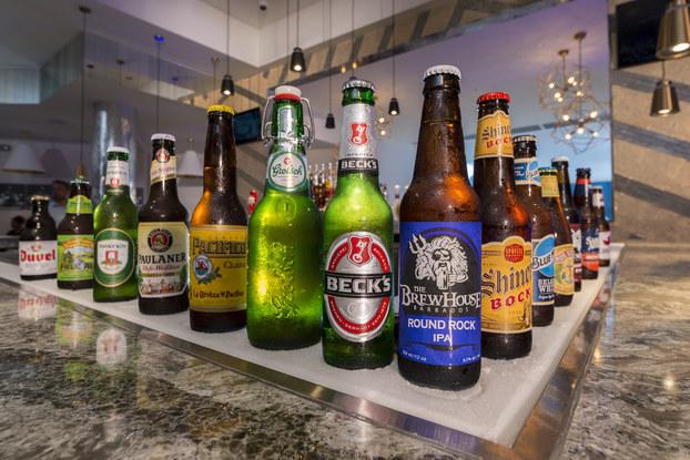 craft beer bar at sandals royal barbados resort