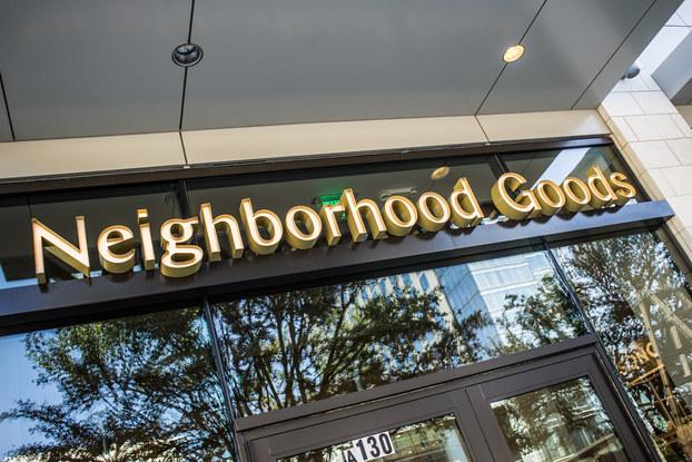 exterior of neighborhood goods location