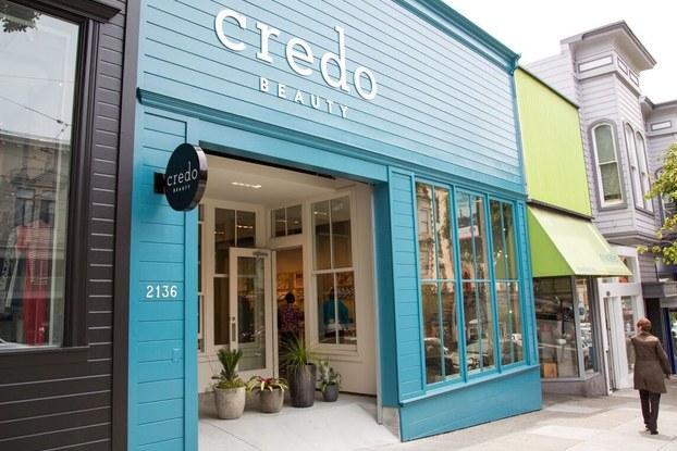 exterior of credo beauty store location