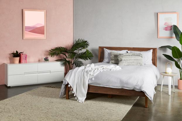 bedroom setup with fernish rented furniture