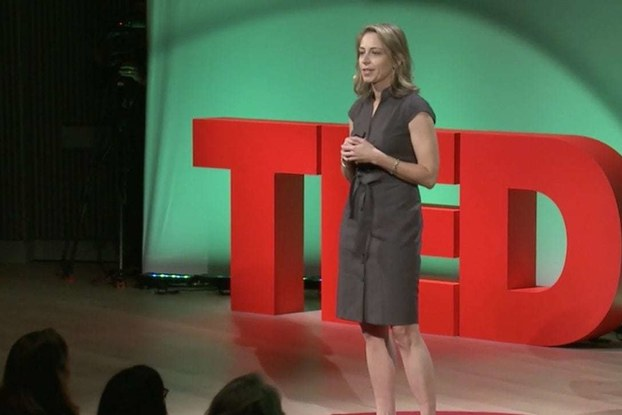 Krista Donaldson on the TED stage.