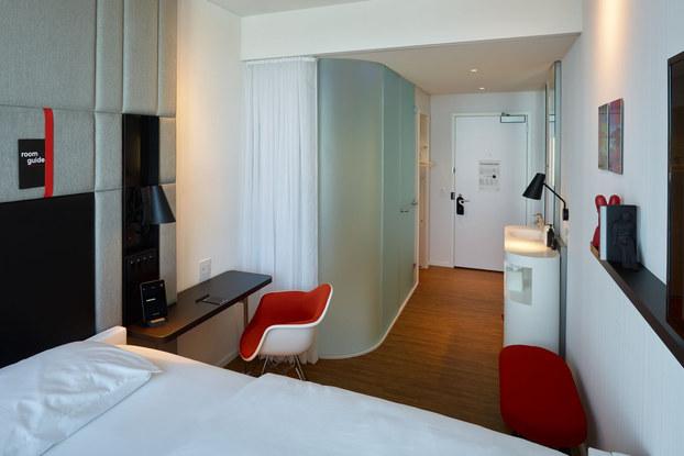citizenM hotel room in boston