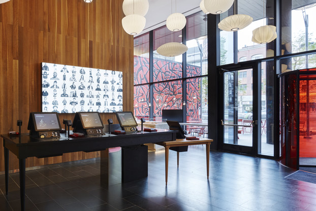 check-in kiosk setup at citizenM new york location