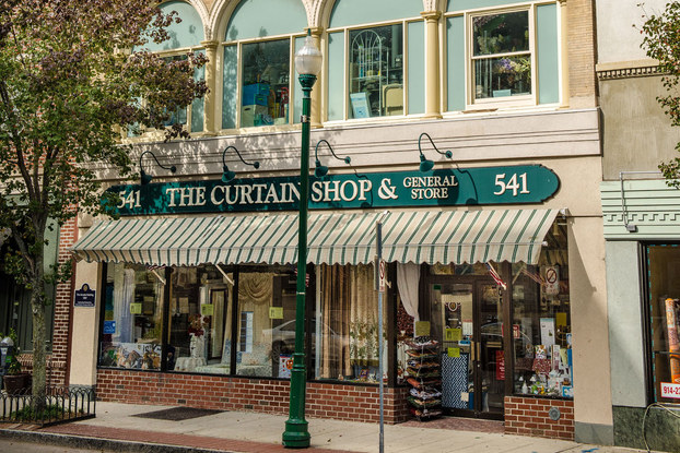 exterior of the curtain shop in new rochelle