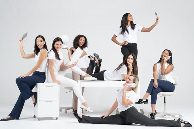group of women wearing betabrand clothing