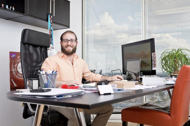 Danny Gavin at desk