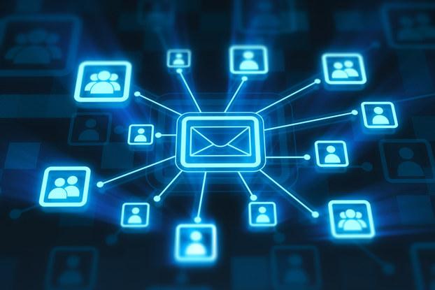 Digital email marketing symbols