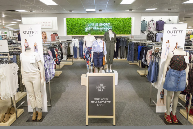 outfit bar display at kohl's