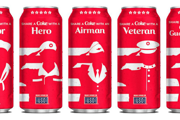 cans from coca-cola and dollar general military cans