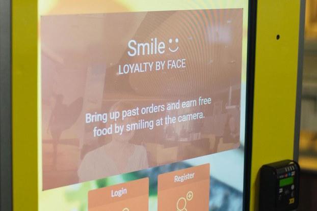 facial recognition kiosk at cali group
