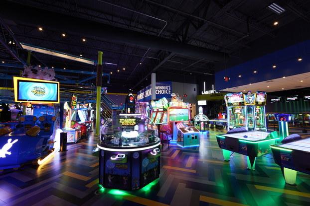 interior of main event arcade