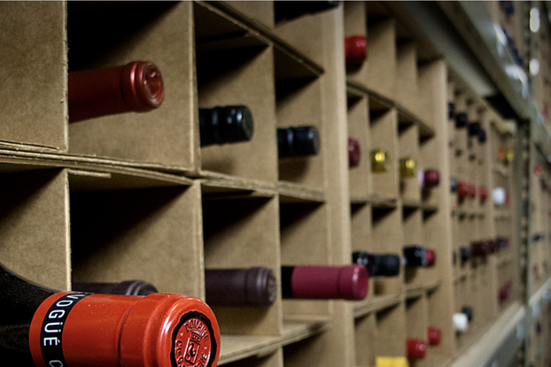 inside of benchmark wine warehouse