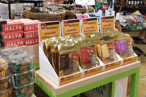 p.o.p candy co. display at Whole Foods Market.