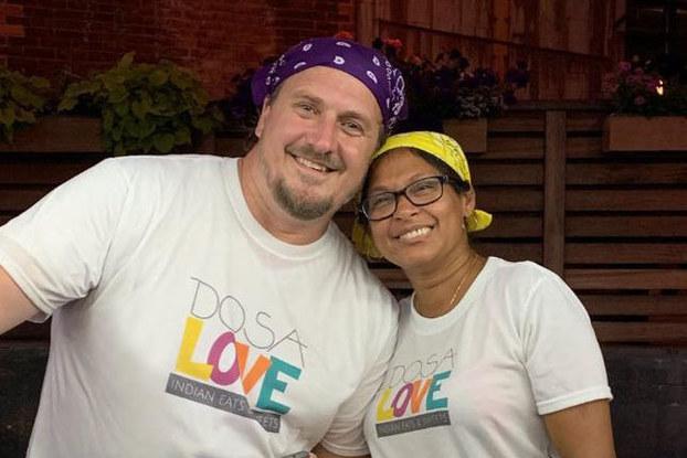 Arunima Dasgupta and Michael Meehan of Dosa Love