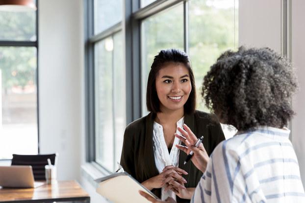two women in meeting
