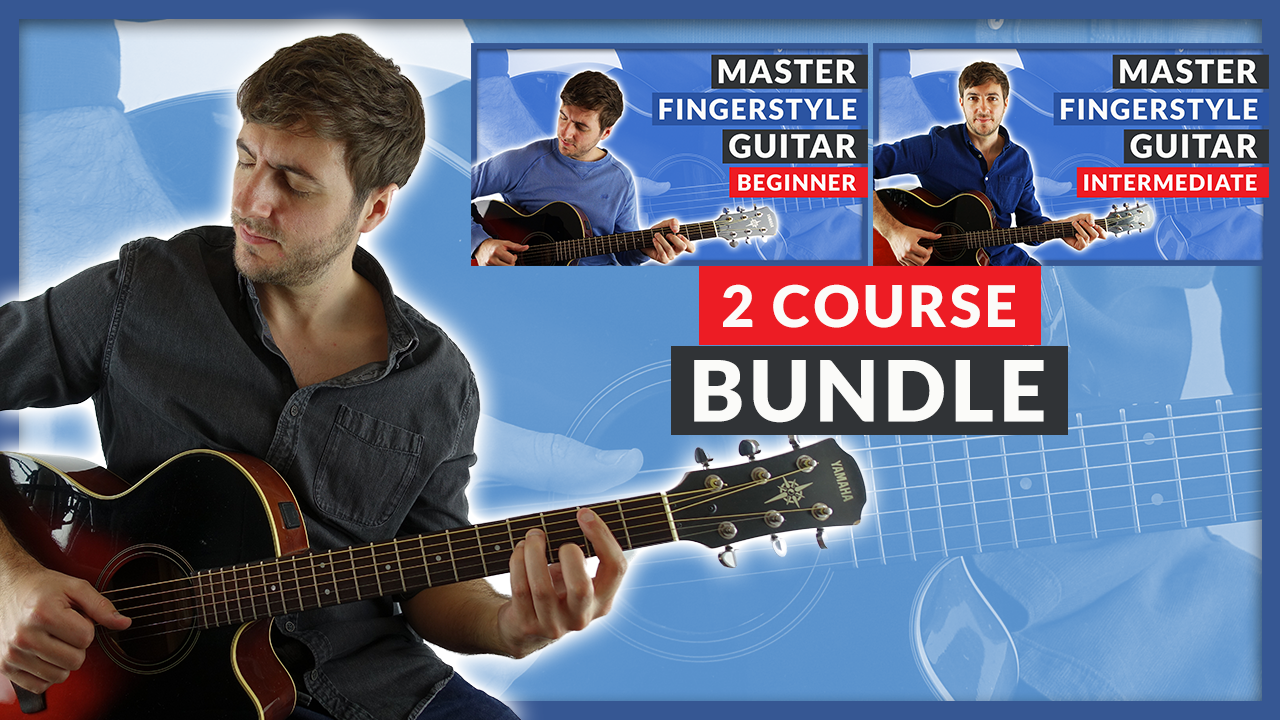 Fingerpicking course bundle - Beginner and Intermediate guitar