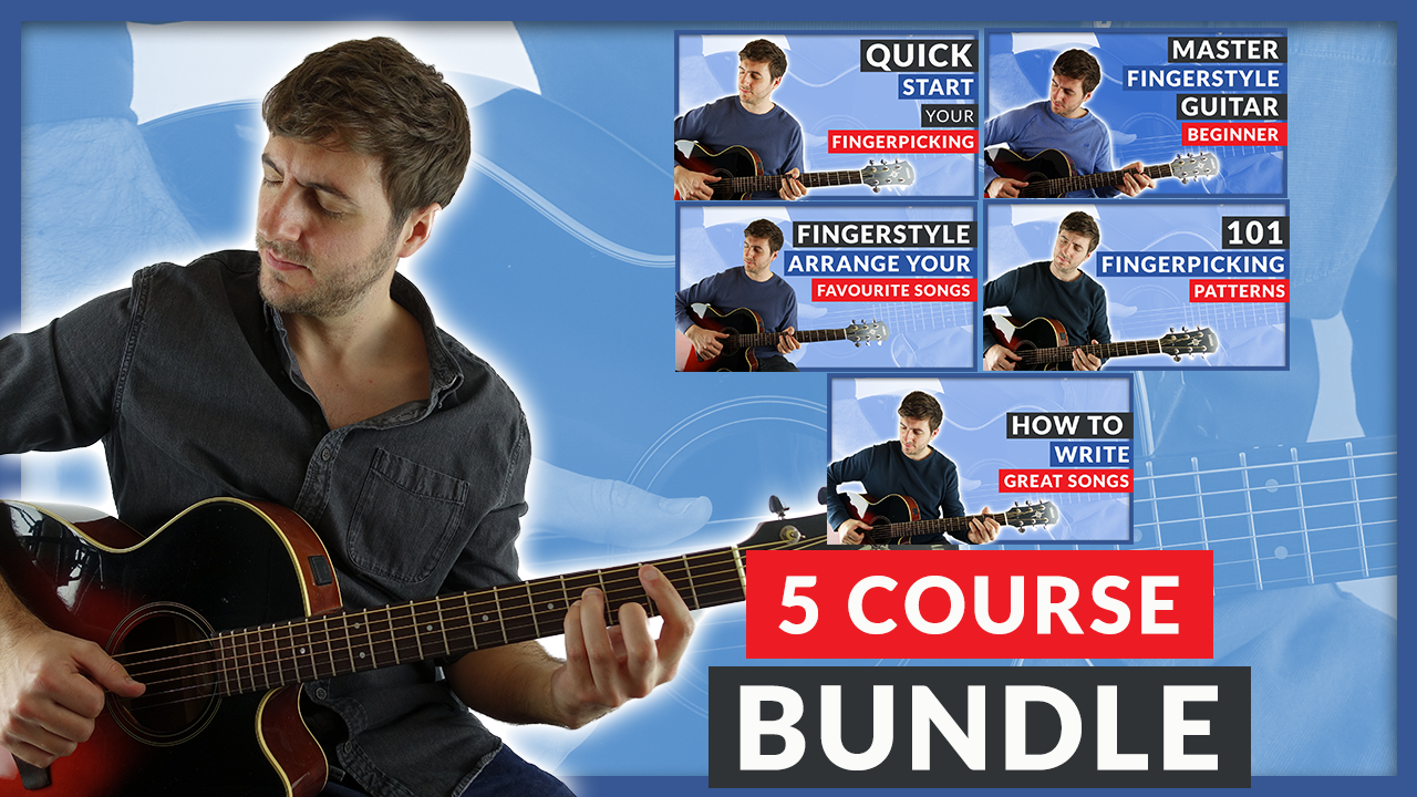 40% off five fingerpicking courses