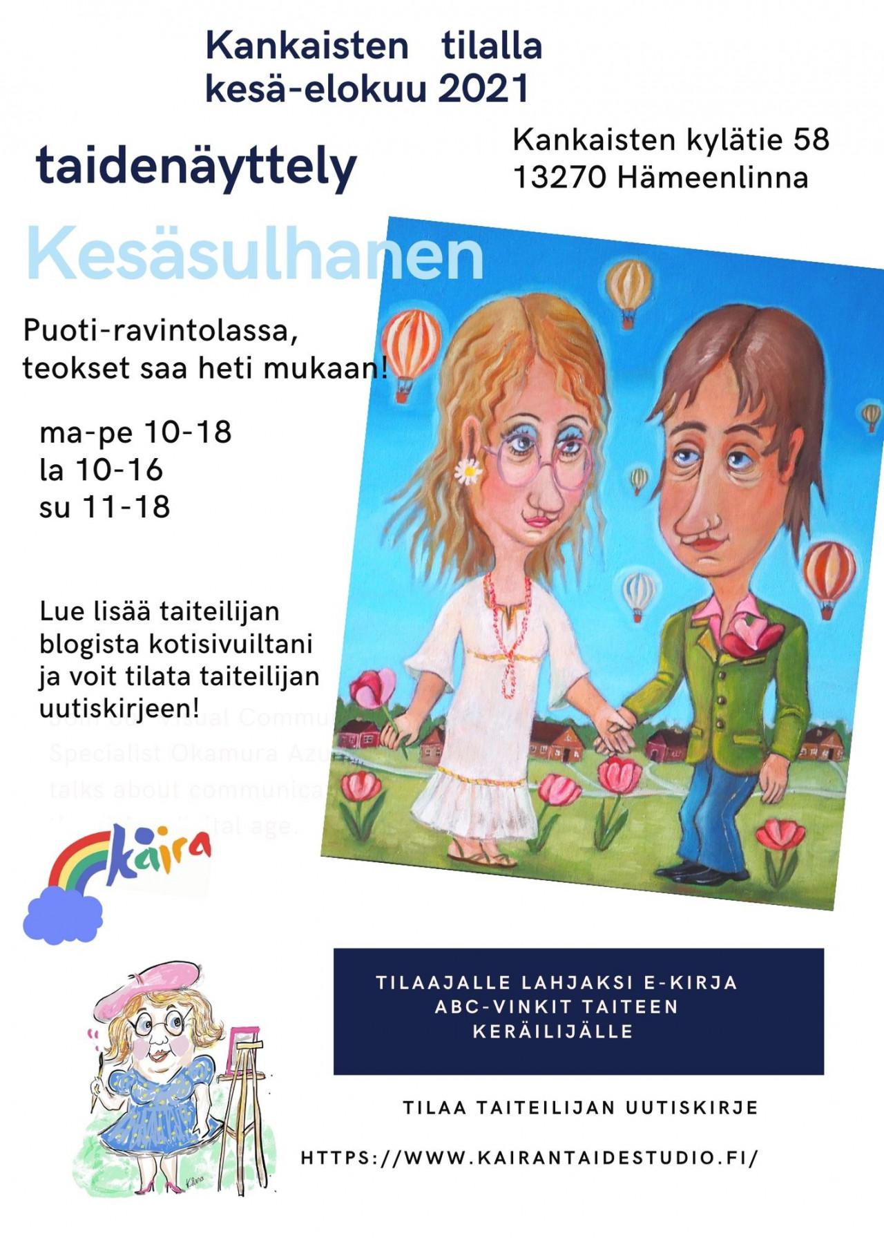 Taidenäyttely Kåira