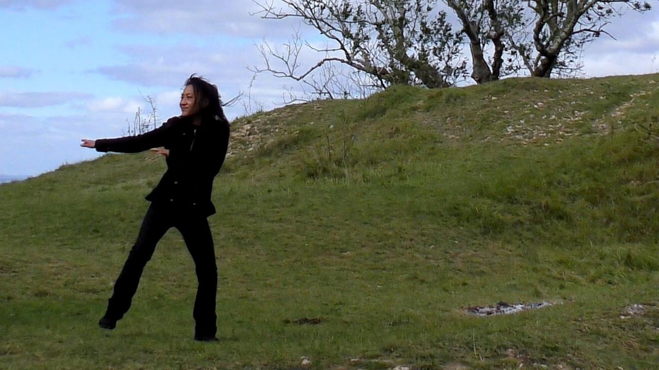 conscious dancing outdoors