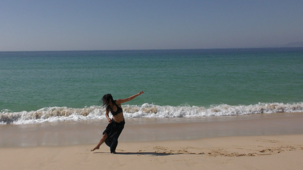 dancing by the sea