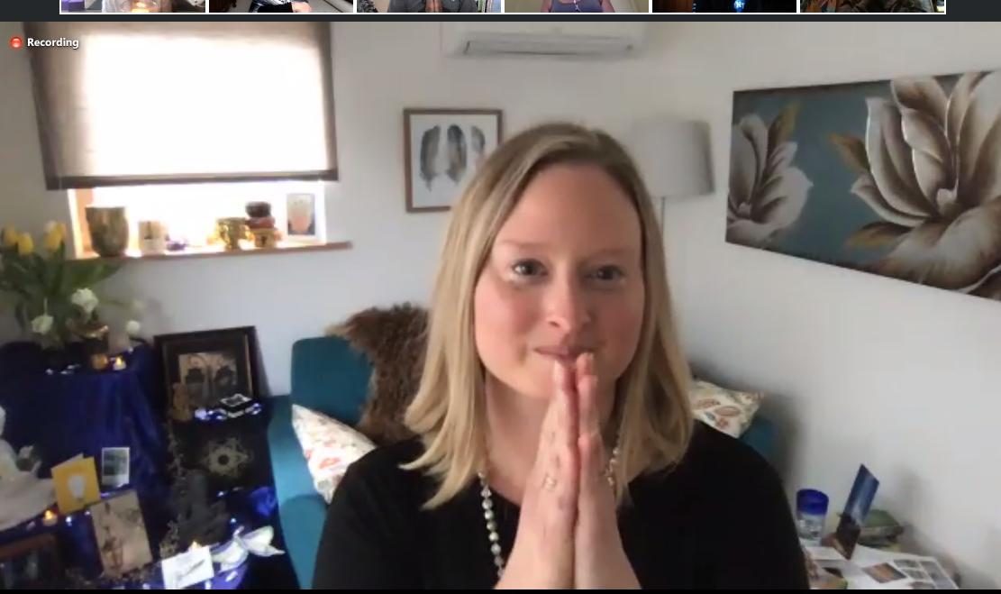 KC Kent on Zoom at Spark Virtual Healing Summit