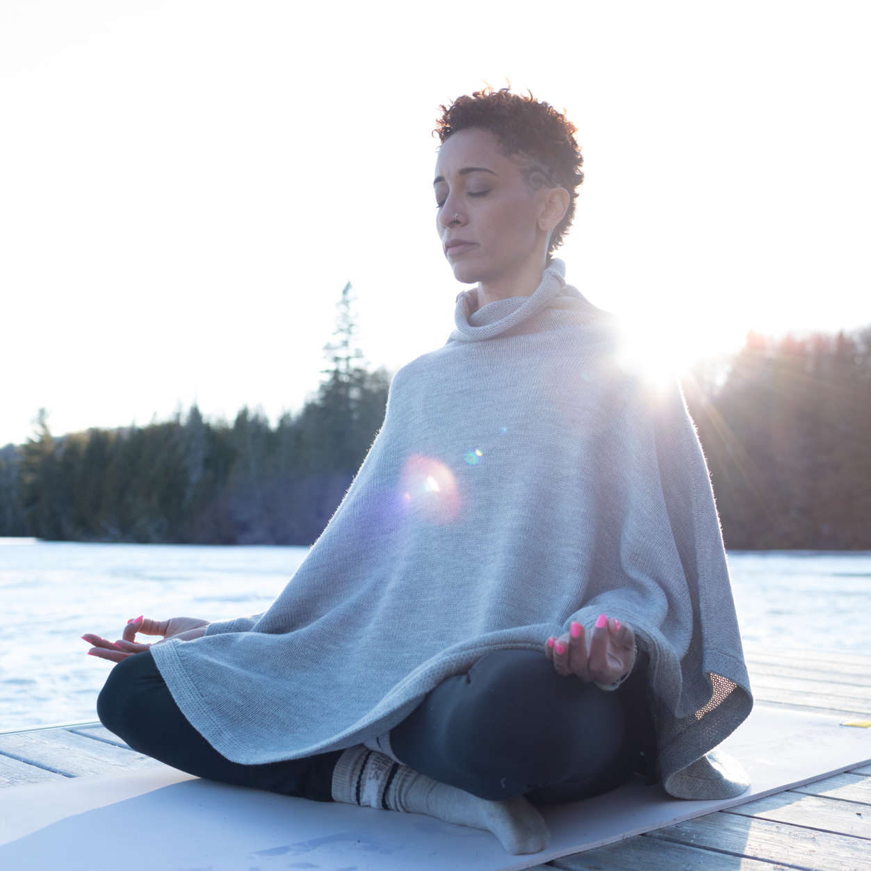 Selena Isles sitting. in meditation