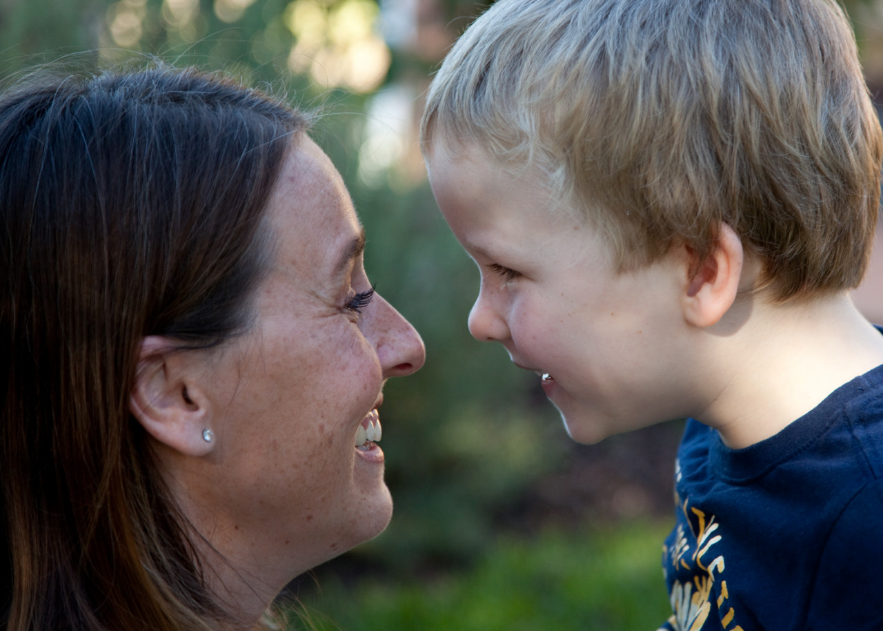 author image with child Kate Johnson