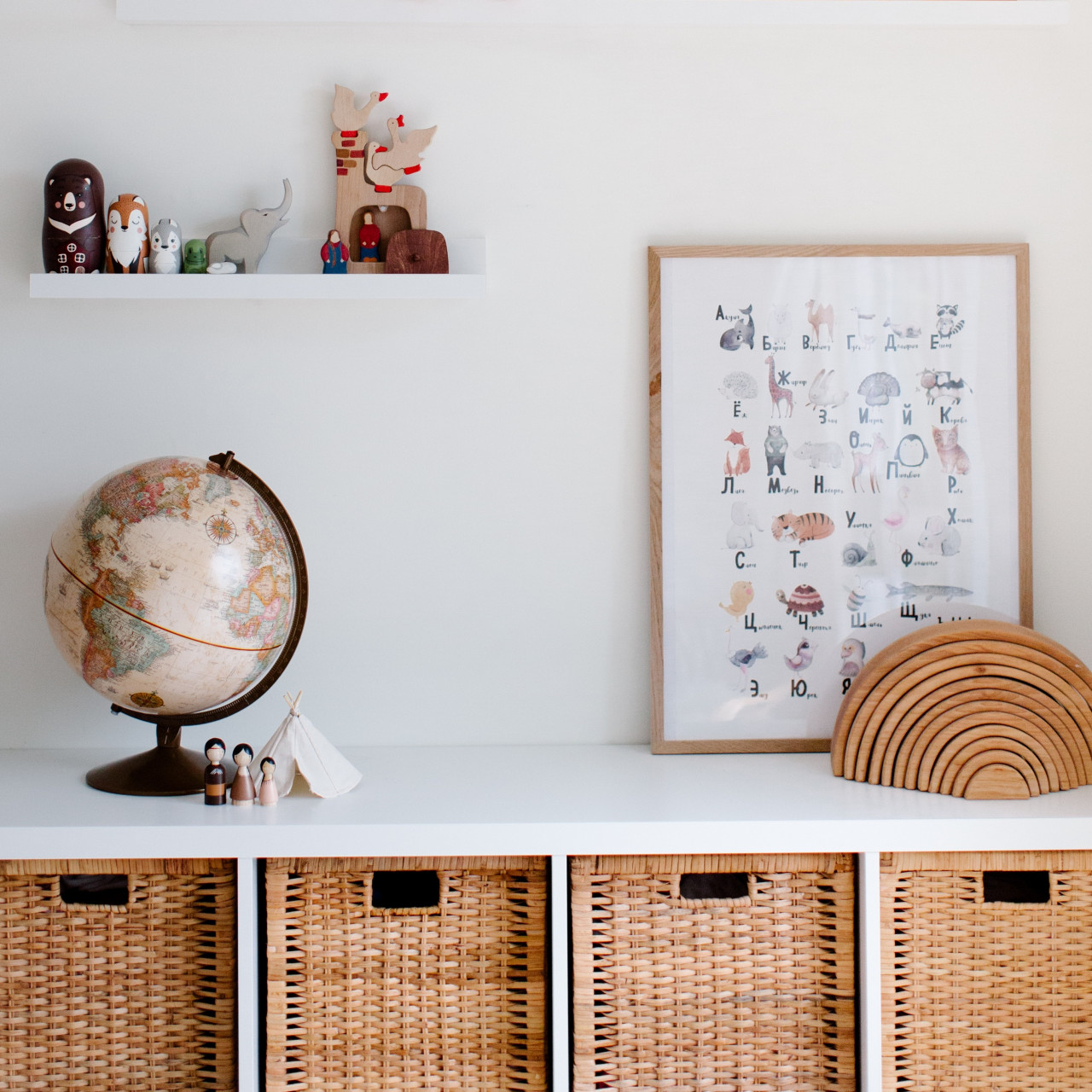 baby nursery with a cot