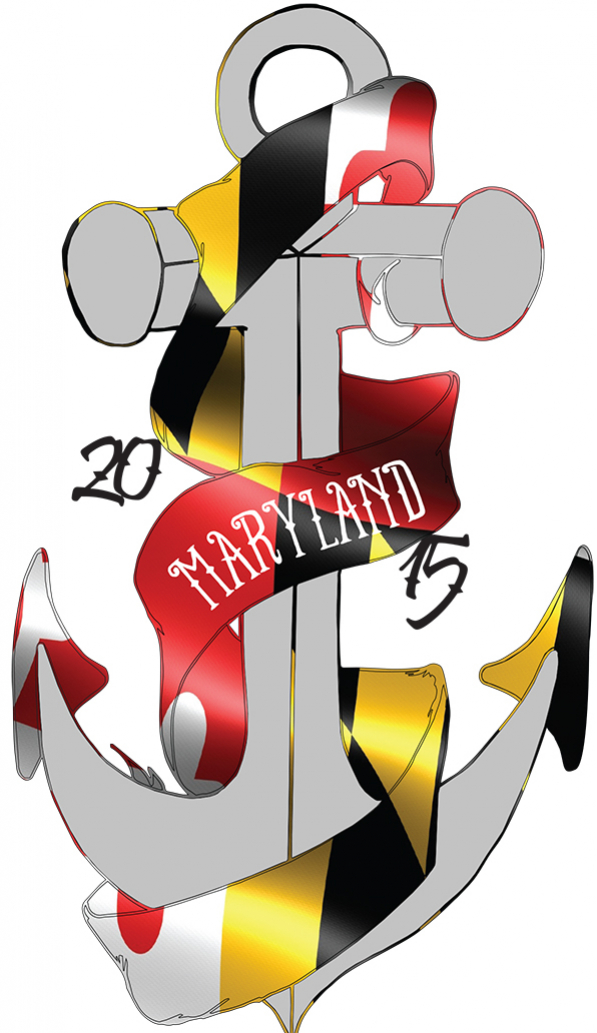 Illustrator Design of a Maryland Anchor