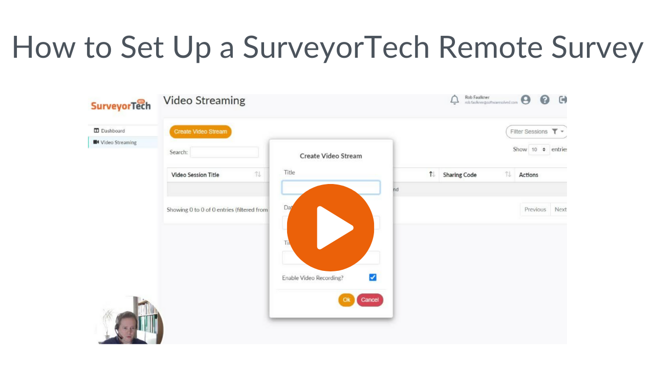How to set up a SurveyorTech remote survey