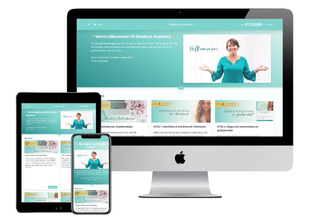 skapa online kurser med soulbizz academy