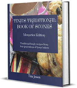 Tina's Traditional Book of Scones book cover