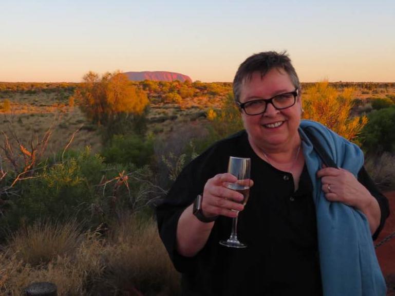 Helen At Uluru teaching