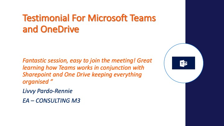 Microsoft Teams Testimonial