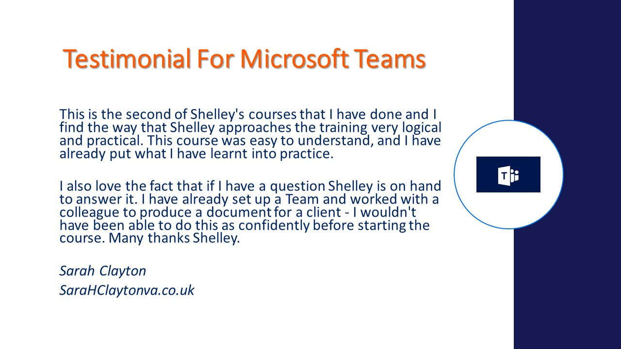 Testimonial Microsoft Teams Course