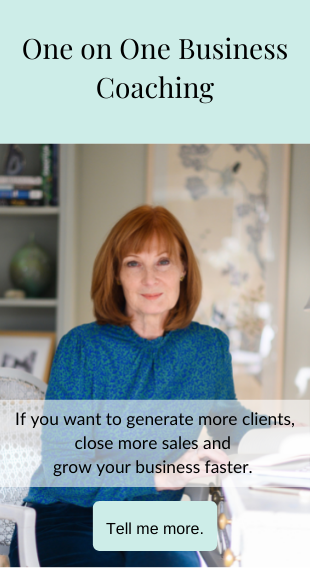 One-to-One Coaching Programmes: If you want to generate more clients close more sales and grow your business faster: Tell me more - click here to book now - before hover