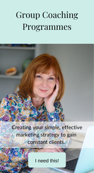 Group Coaching Programmes: Creating your simple, effective marketing strategy to gain constant clients - I need this - click here to book now - before hover