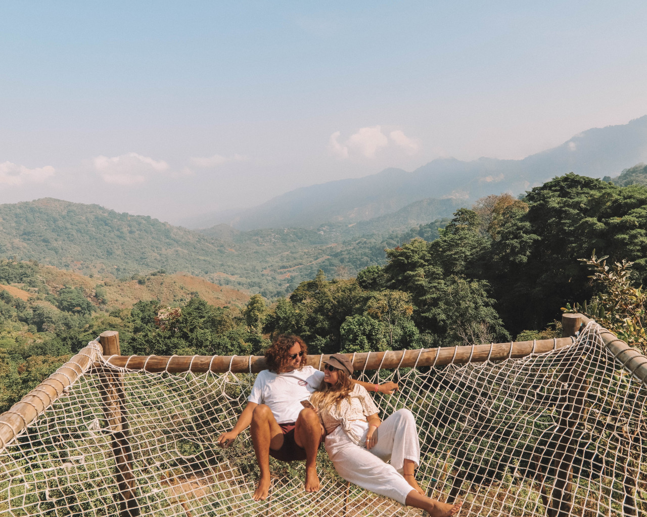 Couples Relaxing on Hammock