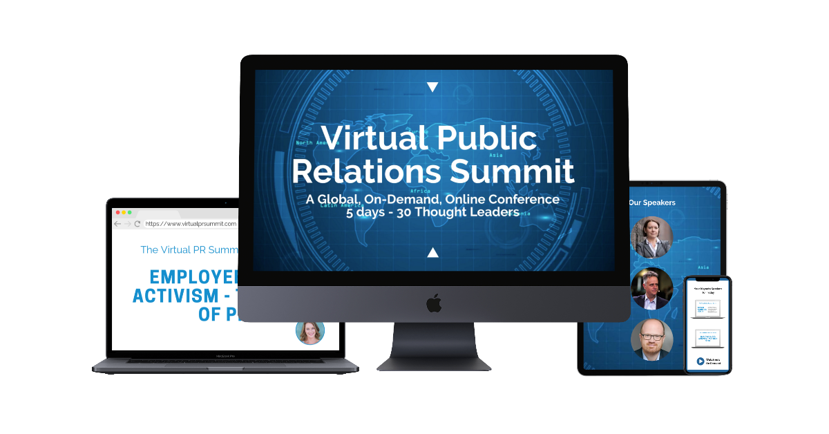 The Virtual Public Relations Summit Landing Page Image